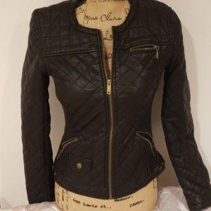 Zara vegan leather bomber jacket